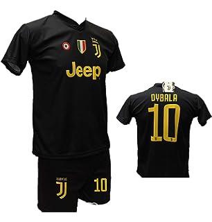 7ef122e3d Completo Terza Maglia Juventus Nera Paulo Dybala 10 Joya + Pantaloncino  Nero con Logo JJ Giallo