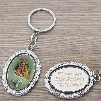 Amazon.com: Llavero de bautizo, personalizable (12 piezas ...