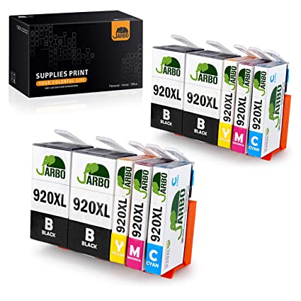 JARBO Reemplazar por HP 920 XL Cartuchos de tinta (4 Negro, 2 Cian ...