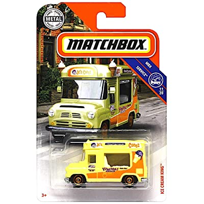 Matchbox 2020 MBX Service Ice Cream King (Ice Cream Truck) 98/100, Cream: Toys & Games