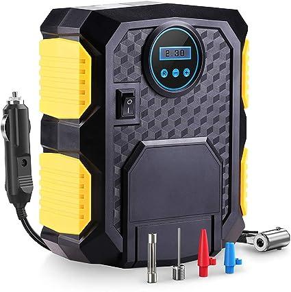 Mbuynow Compresor de Aire Coche Portatil Inflador Eléctrico 12v ...