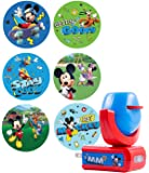 Projectables 11739 Six Image Mickey Mouse & Roadster Racers LED Night Light, Blue and Red, Plug-In, Light Sensing, Auto On/Off, Projects Disney Characters on Ceiling, Wall, or Floor