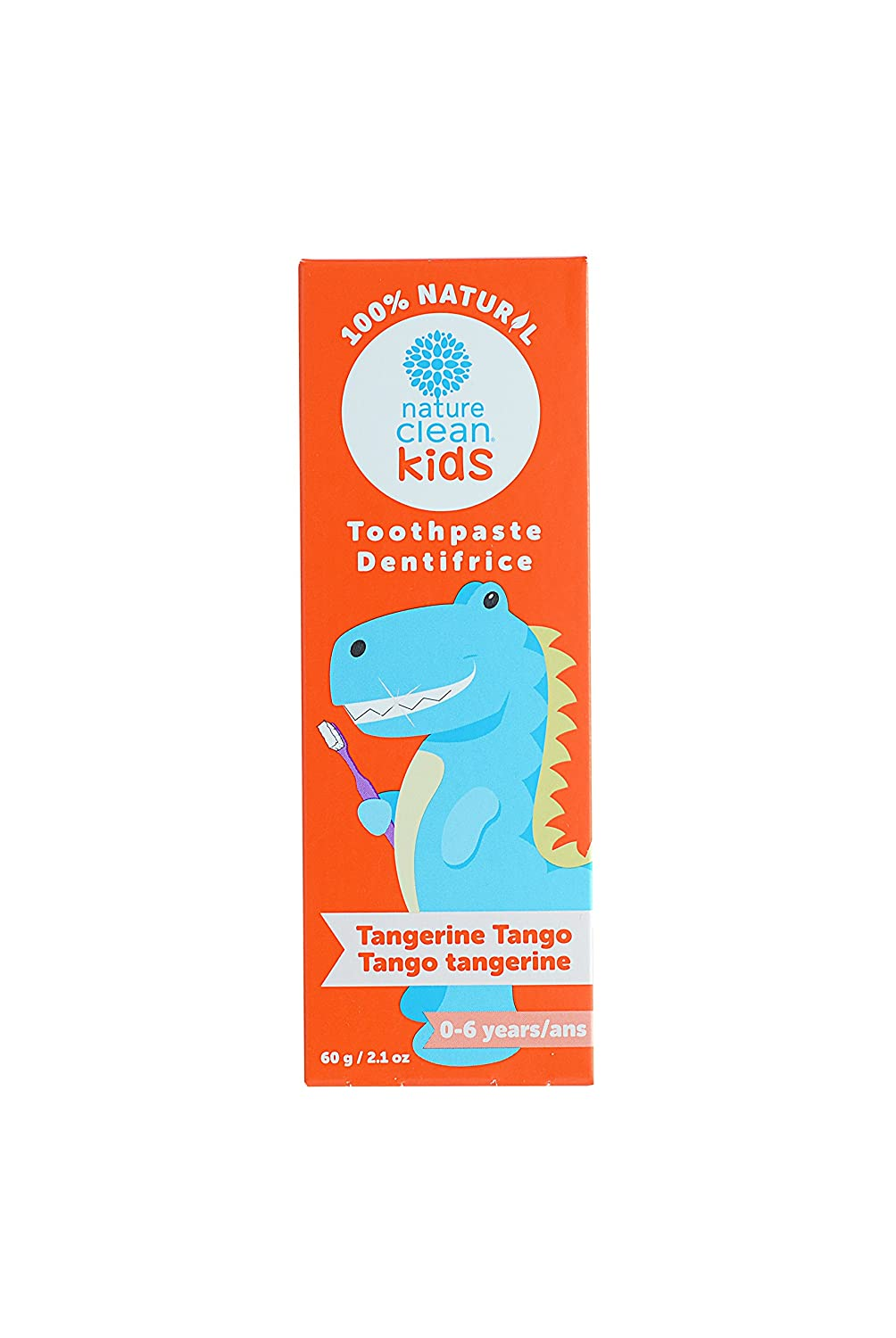 Nature Clean Kids Toothpaste, Tangerine Tango, 2.1 Fluid Ounce P8K71