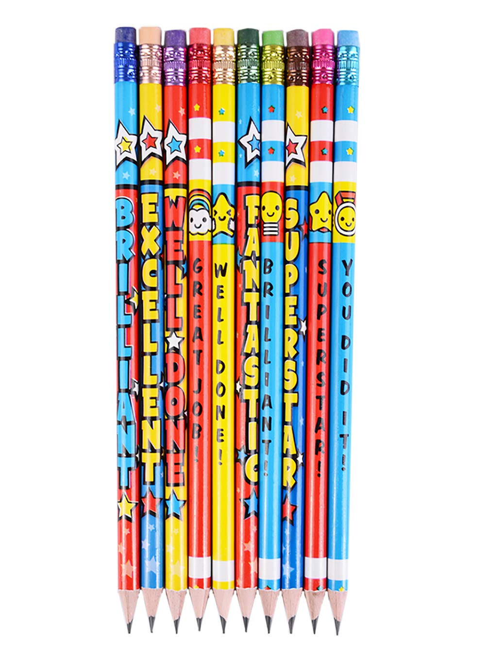 Madisi Assorted Colorful Pencils, Incentive Pencils,#2 HB, 10 Dsigns, 150 Pack, pencils bulk for kids by Madisi (Image #3)