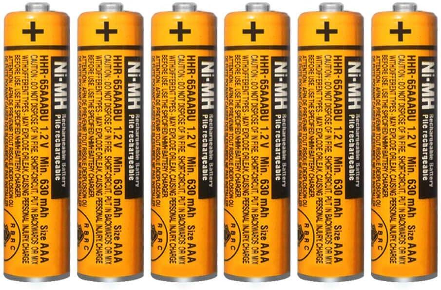 6 baterias HHR-65AAABU para telefonos Panasonic (ver modelos