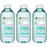 Garnier Pure Active Micellar Oily Skin Cleansing Water, 400 ml, Pack of 3