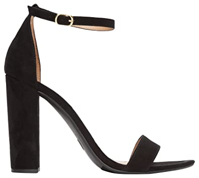 9892b922b44 Rohb by Joyce Azria Monaco High Block & Stiletto Heel Ankle Strap Sandals