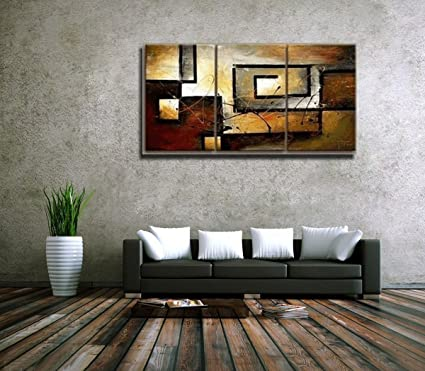 Amazon.com: Mars Art 100% Hand Painted Oil Painting Abstract Art ...
