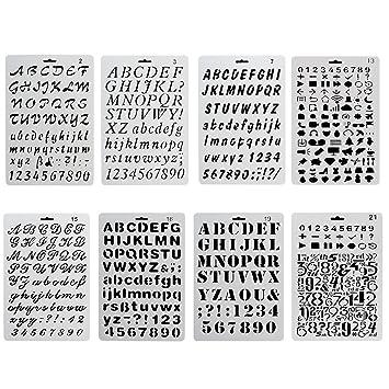 ccmart plástico Bullet diario plantilla para juego de 8 con letras número alfabeto símbolo pecfect para/agenda/cuaderno/diario/Scrapbook/diario/Graffi...