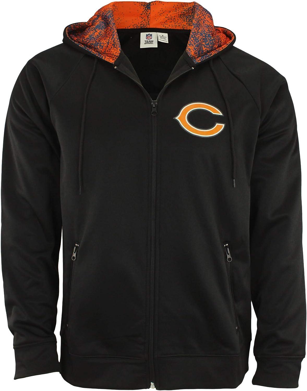 Zubaz NFL Men's Full Zip Performance Fleece Hoodie Jacket