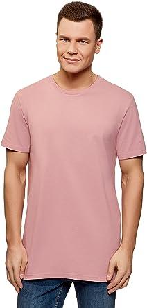 oodji Ultra Hombre Camiseta de Algodón con Aberturas en los Laterales: Amazon.es: Ropa y accesorios
