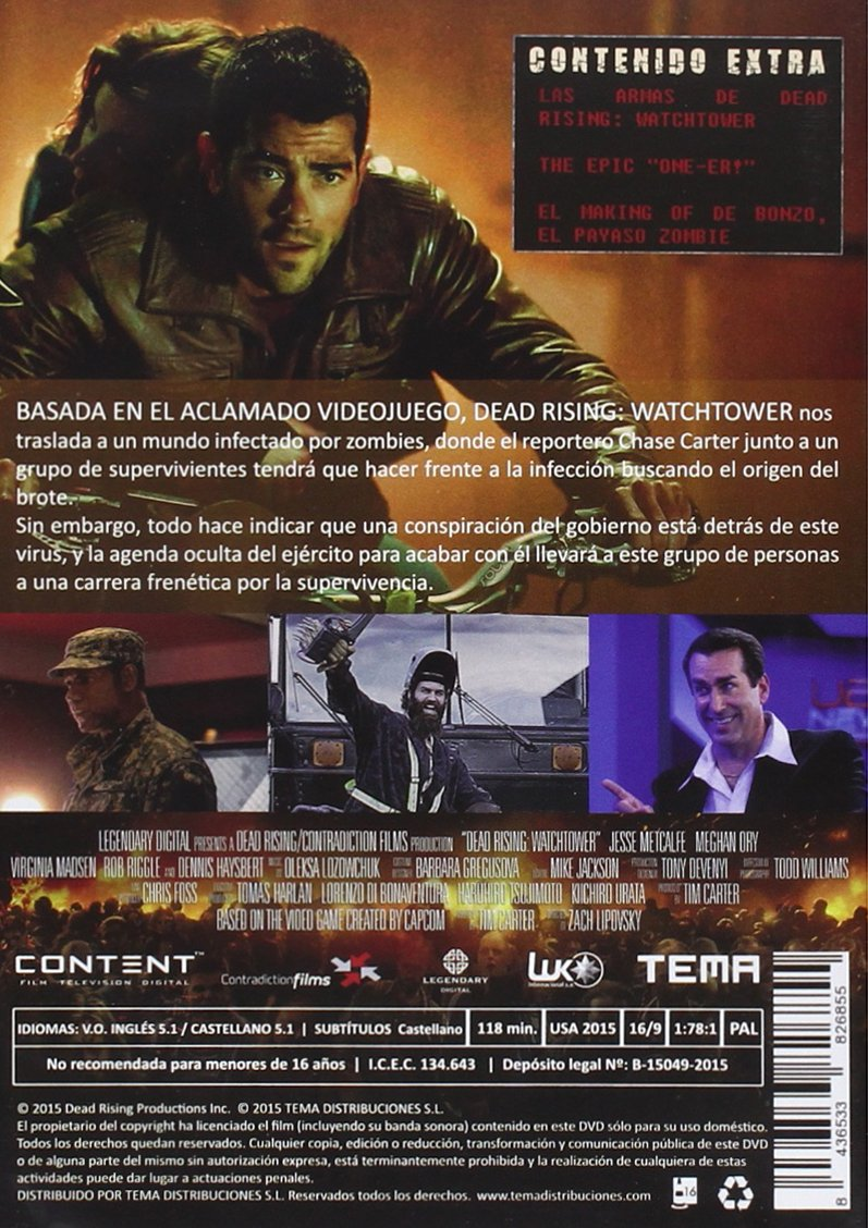 Amazon.com: Dead Rising: Watchtower [Non-usa Format: Pal ...