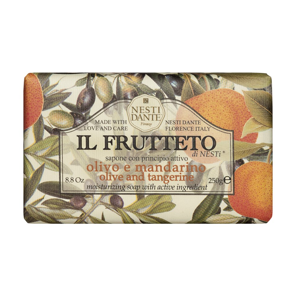 Nesti Dante Il Frutteto Italian Moisturizing and Nourishing Bar Soap, Olive Oil and Tangerine, 250 Grams Upper Canada Soap 1715206