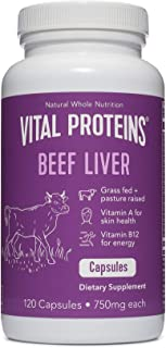 product image for Grass-Fed Desiccated Beef Liver Pills - Vital Proteins (120 Capsules, 750mg Each)