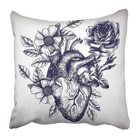 Emvency Funda de almohada cuadrada de 45,7 x 45,7 cm con diseño de ...