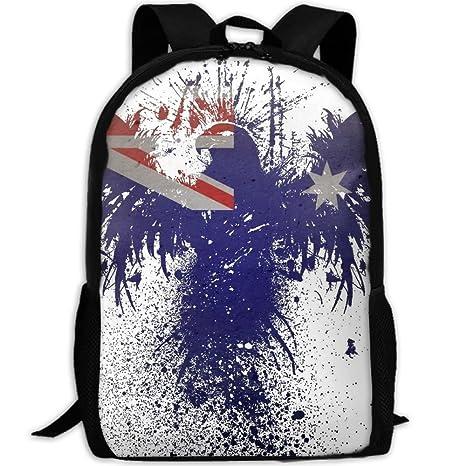 d61a7091927f Amazon.com: Eagle Australia Flag Bird Adult Travel Backpack School ...