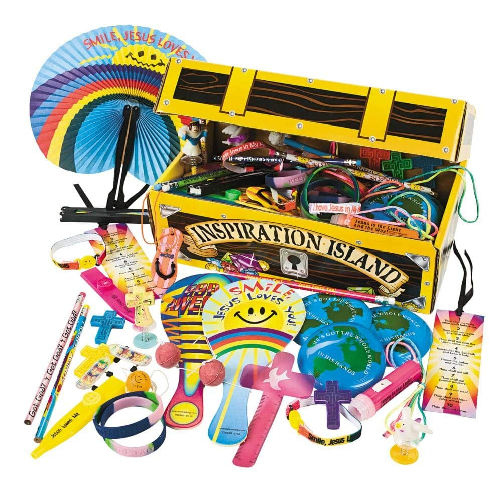 Religious Treasure Chest Assortment - Vacation Bible School & Toys & Games
