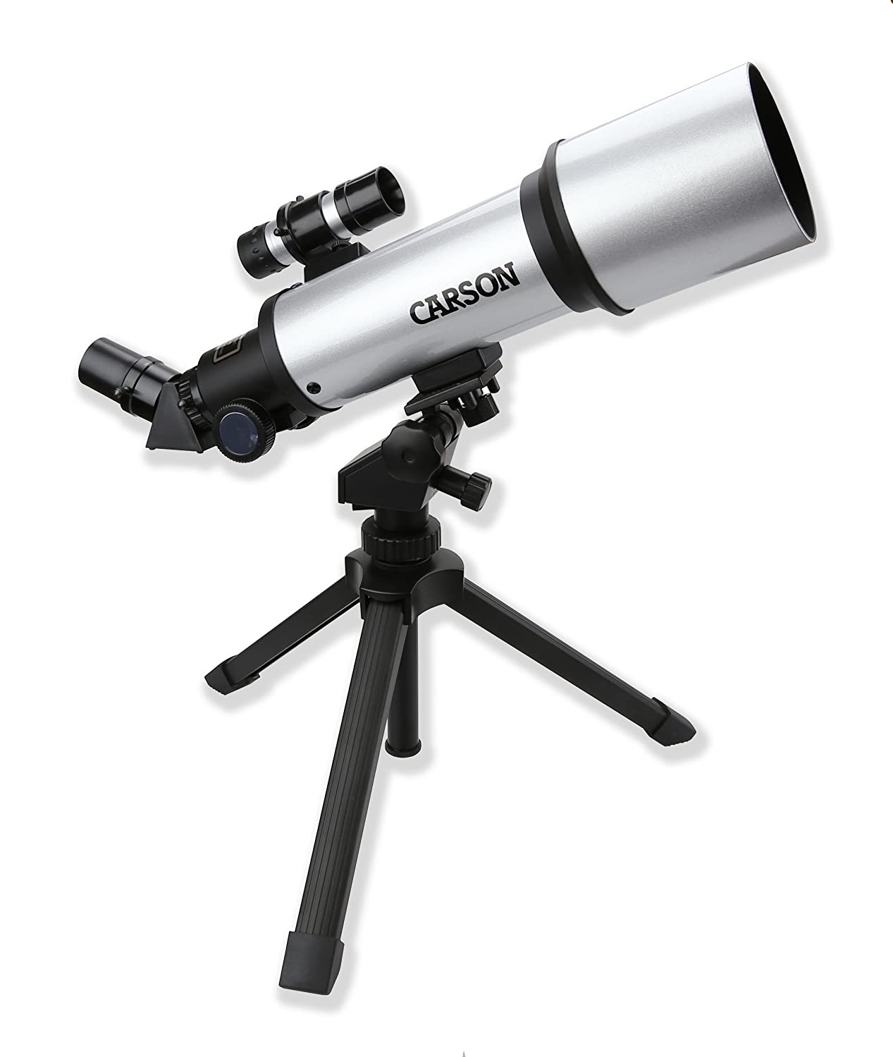 Amazon.com : Carson SkyRunner 16x-133x Power 70mm Short Tube Wide Angle  Refractor Telescope (SV-350) : Refracting Telescopes : Camera & Photo