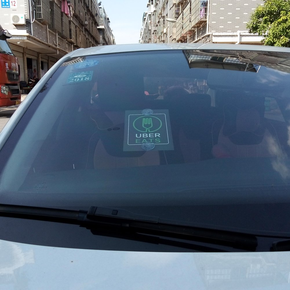 KOKY Lyft Sign Decal Strong Suction Cups Rating Tips Accessories Rideshare Car 2 Packs