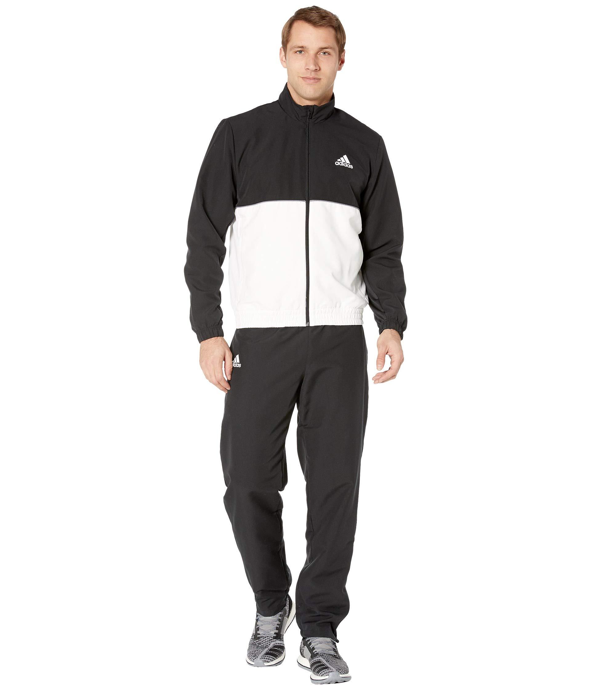 adidas Club Tracksuit Black/White LG by adidas