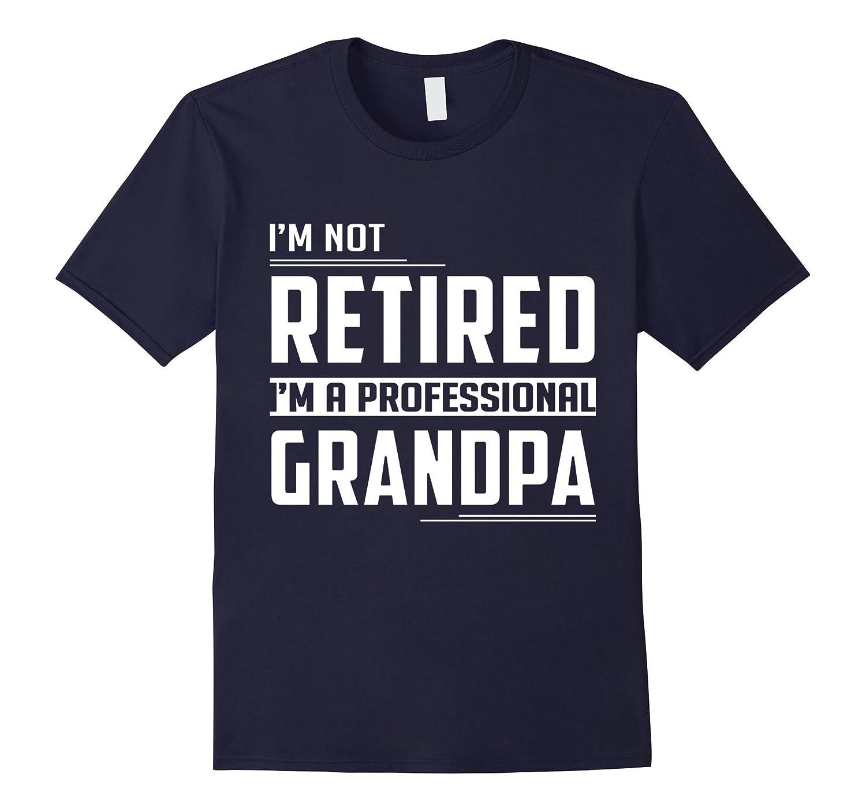 Mens I'm Not Retired I'm A Professional Grandpa Retirement TShirt