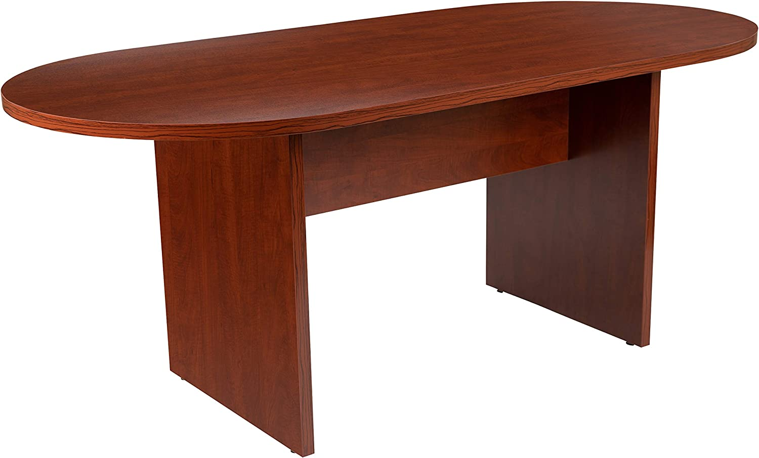 Flash Furniture 6 Foot (72 inch) Oval Conference Table in Cherry