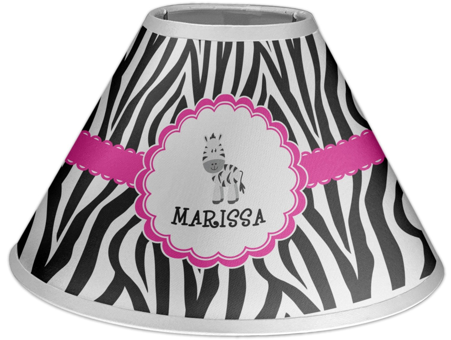 RNK Shops Zebra Coolie Lamp Shade (Personalized)