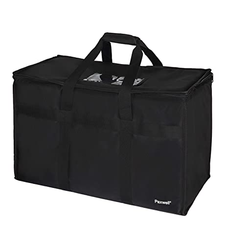 Large Insulated Food Delivery Bag for Uber Eats, Doordash Drivers, Catering  and Restaurants with Extra Bottom and Removable Separator to Transport