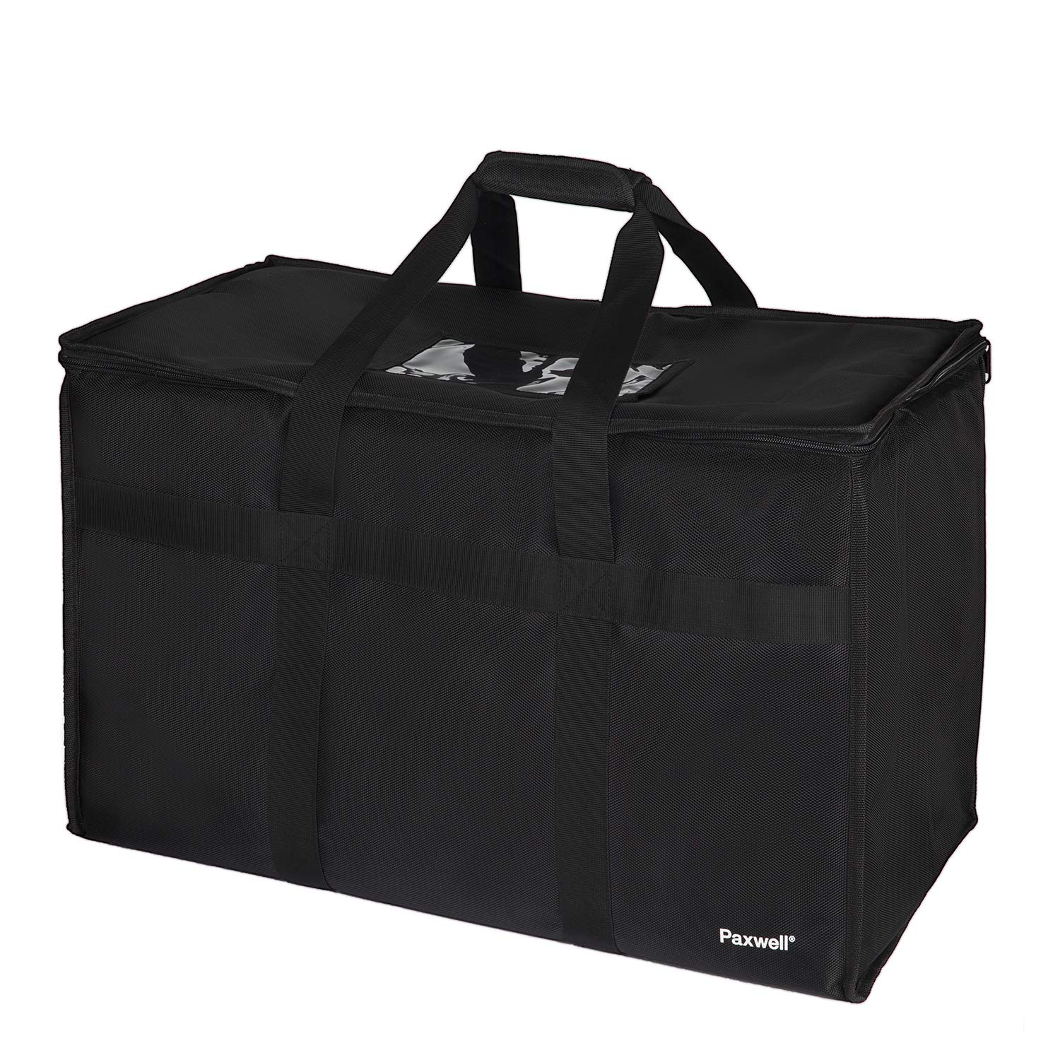 Large Insulated Food Delivery Bag for Uber Eats, Doordash Drivers, Catering and Restaurants with Extra Bottom and Removable Separator to Transport Hot/Cold Items, 23'' x 15'' x 12'' Inside
