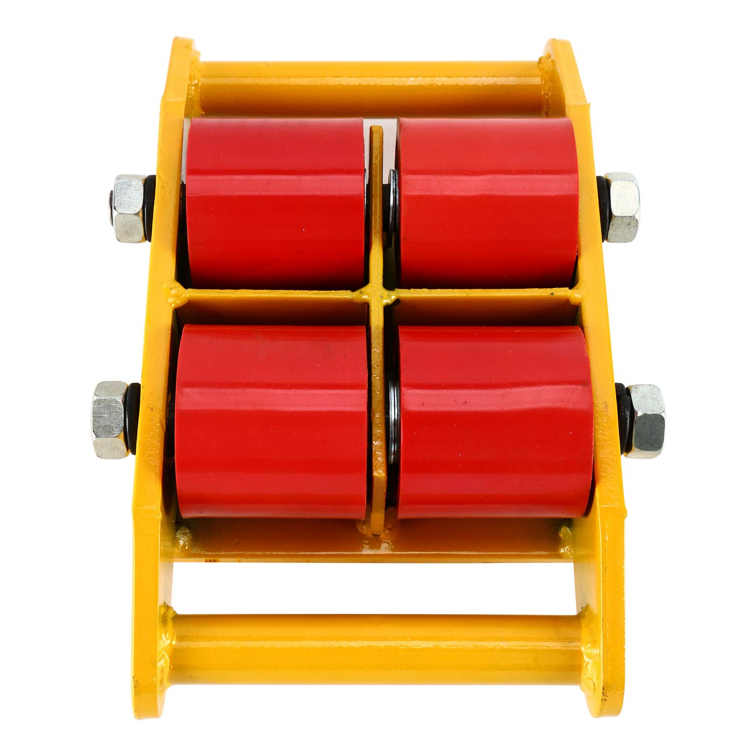 YaeTek Industrial Machinery Mover 13200 lbs 6 Tons Machinery Skate Dolly with 4 Rollers Cap 360 Degree Rotation (Yellow) by YAE TEK (Image #8)