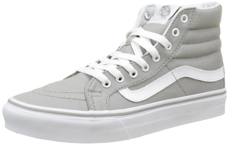 Amazon.com | Vans Womens Light Gum SK8-Hi Slim Skate Shoes Drizzle/True White 9 B(M) US | Skateboarding