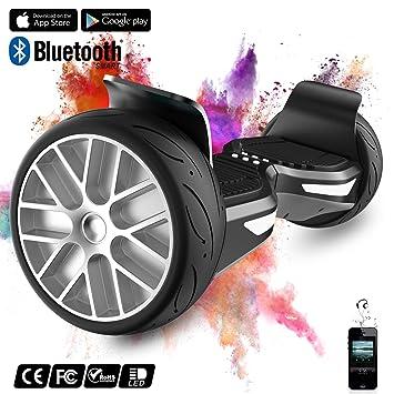 COLORWAY Hoverboard SUV de 8,5 Pulgadas, Todo Terreno 700 W, Función App, Bluetooth y LED, Equilibrio Automático de Patinete Eléctrico para Niños y ...