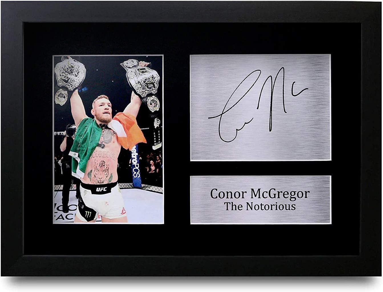 HWC Trading Conor Mcgregor A4 Encadr/é Sign/é Image Autographe Imprim/é Impression Photo Cadeau DAffichage pour Ventilateurs UFC