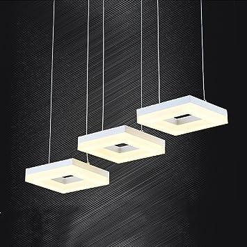 OOFAY Lámpara Colgante Cuadrada LED Diseño Moderno ...