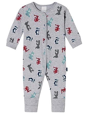 Schiesser Jungen Zweiteiliger Schlafanzug Baby Anzug mit Fu/ß