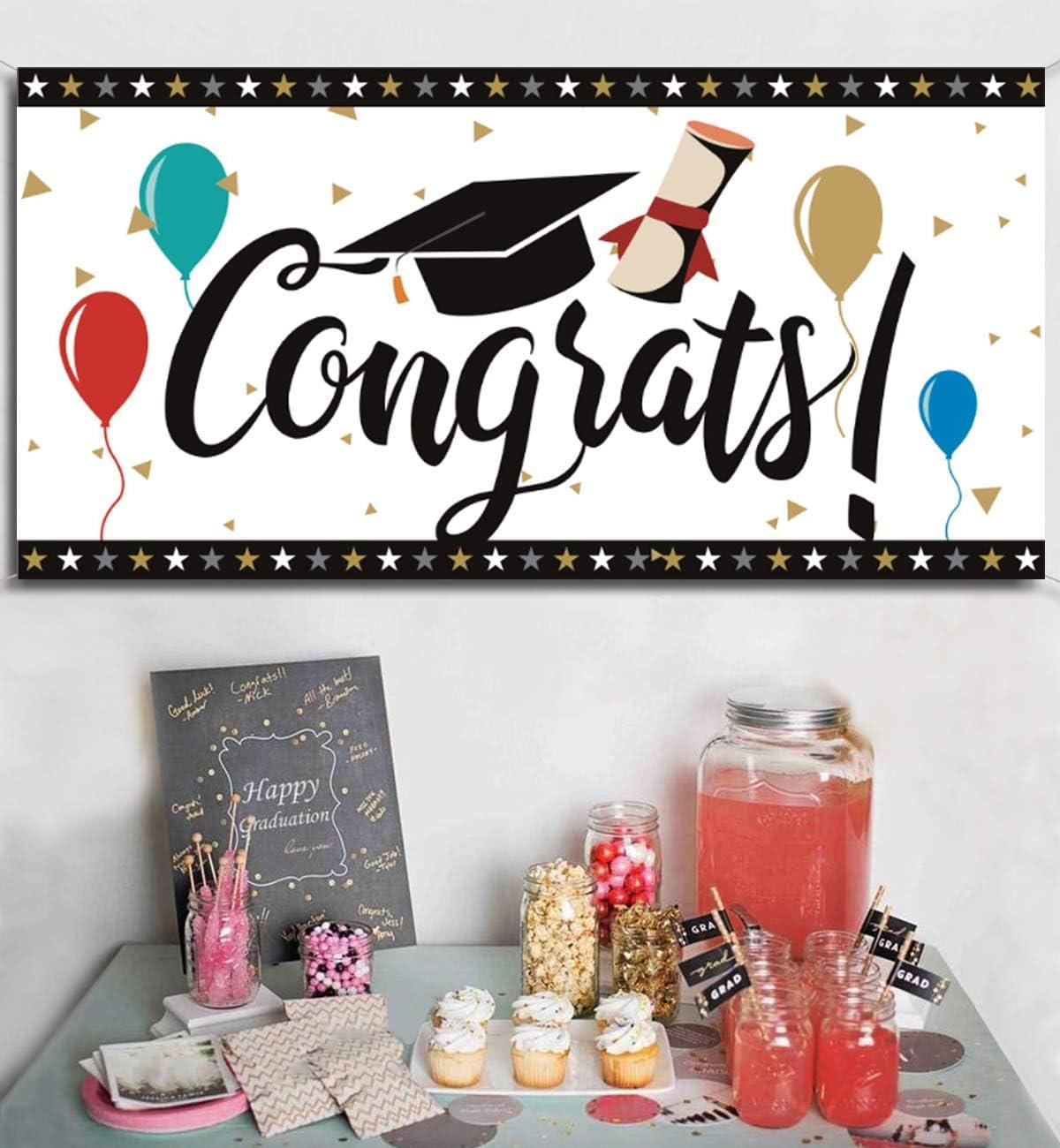 Graduation Banner 2019 Congrats Grad Wall Decor Party