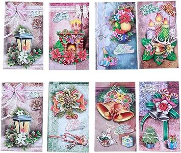 STOBOK 16 Pack - tarjetas de felicitación de Feliz Navidad ...