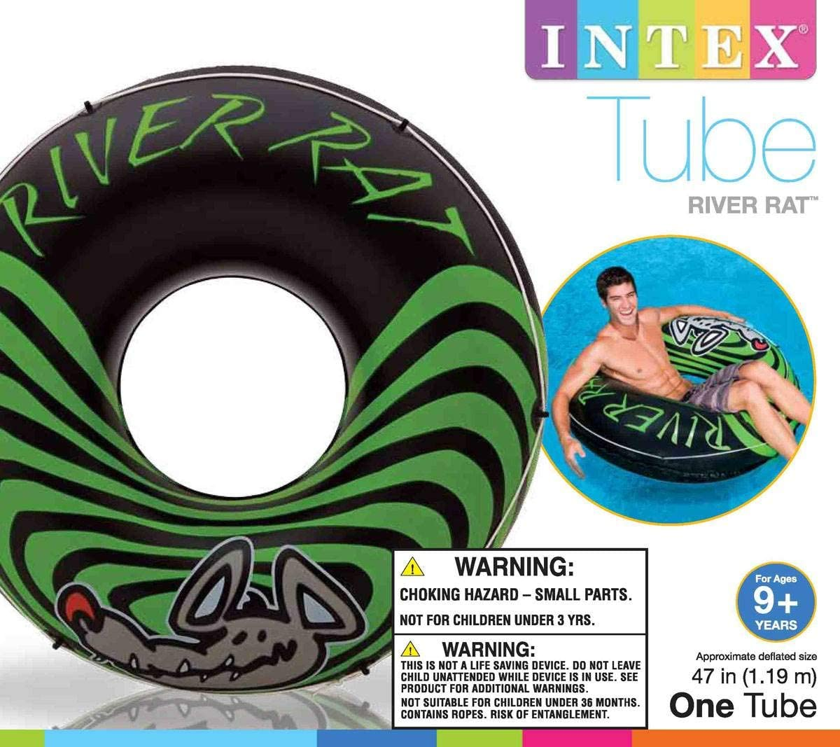 Amazon.com: Intex® 68209ep Río Rat ™ Tubo inflable, 47 ...