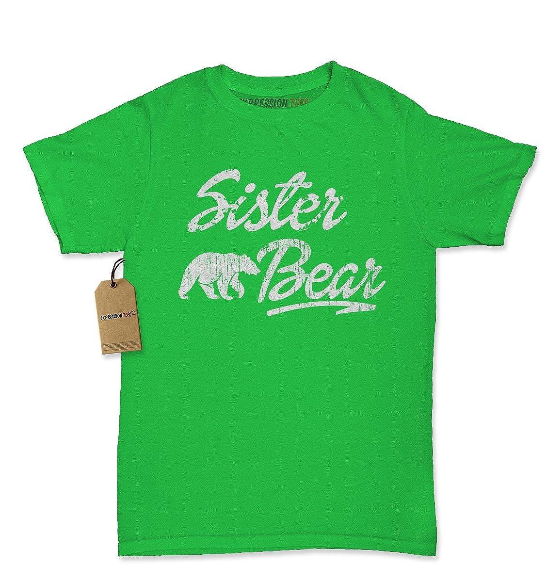 Expression Tees Sister Bear Cub Family Womens T-shirt 1685-W