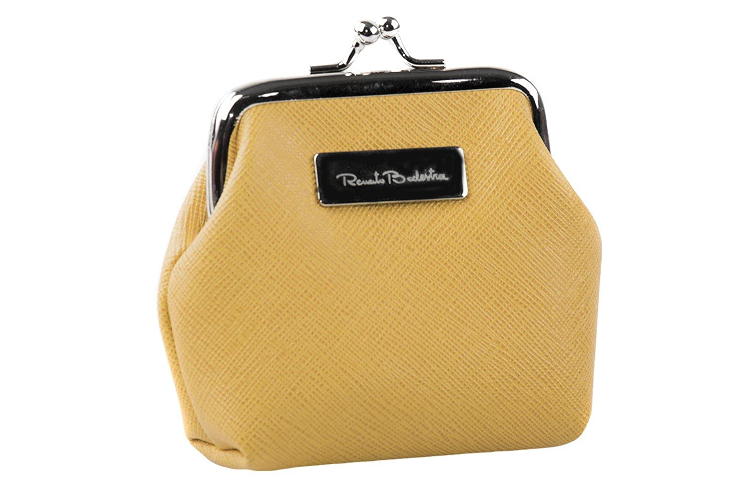 Coin purse keychain one ring RENATO BALESTRA yellow ocher box package P34