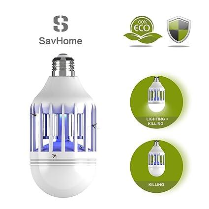 S SAVHOME Bug Zapper Light Bulb, Insect Killer, Fly Killer, Mosquito Zapper  Lamp