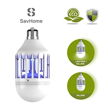 Awesome S SAVHOME Bug Zapper Light Bulb, Insect Killer, Fly Killer, Mosquito Zapper  Lamp