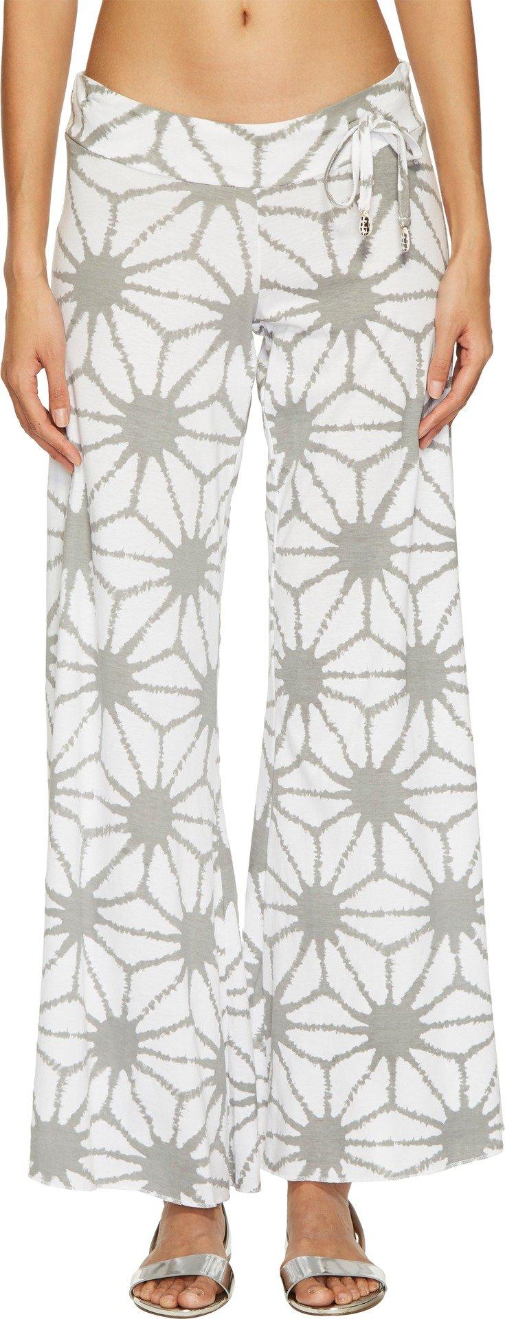 Letarte Women's Shibori Beach Pants Cover-Up Lt Grey Multi X-Small