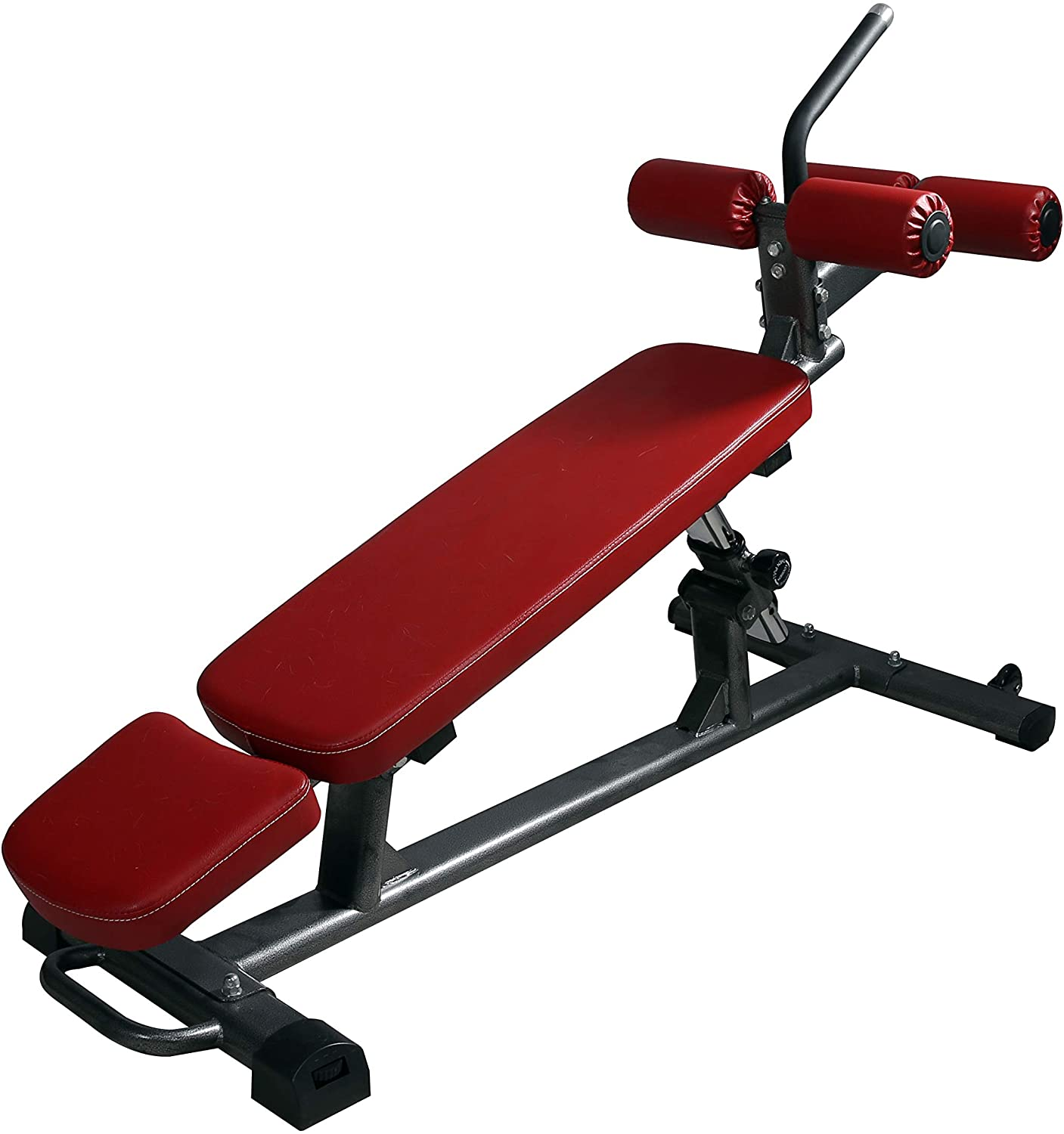 Finer Form Semi-Commercial Sit Up Bench Elite with Reverse Crunch Handle for Ab Exercises and 4 Adjustable Height Settings [Newly Improved]