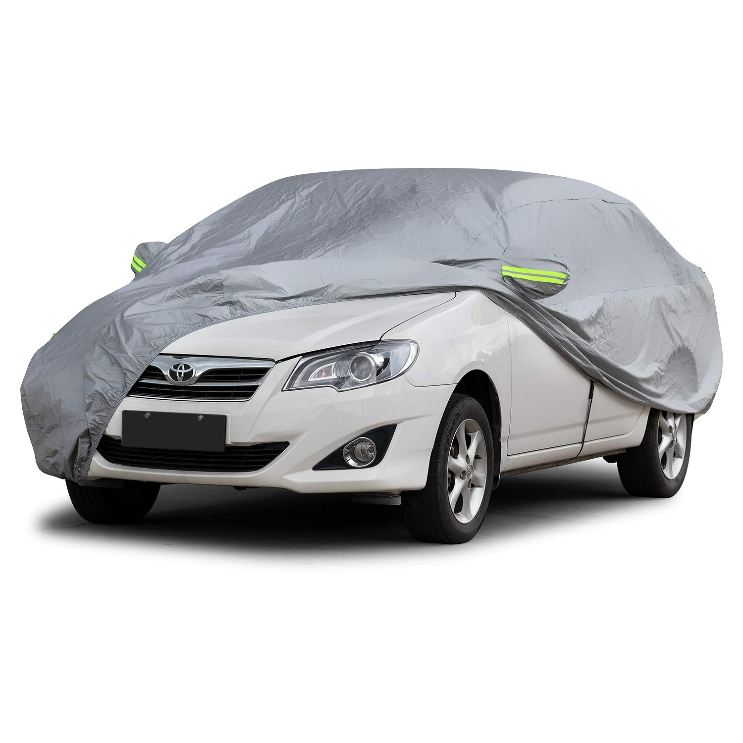SUV Car Cover Outdoor Indoor Use Dr.Auto Full SUV Cover Snow Shield Sun Block Waterproof Windproof Scratch Resistant SUV-M 183 x 70.8 x66 inch