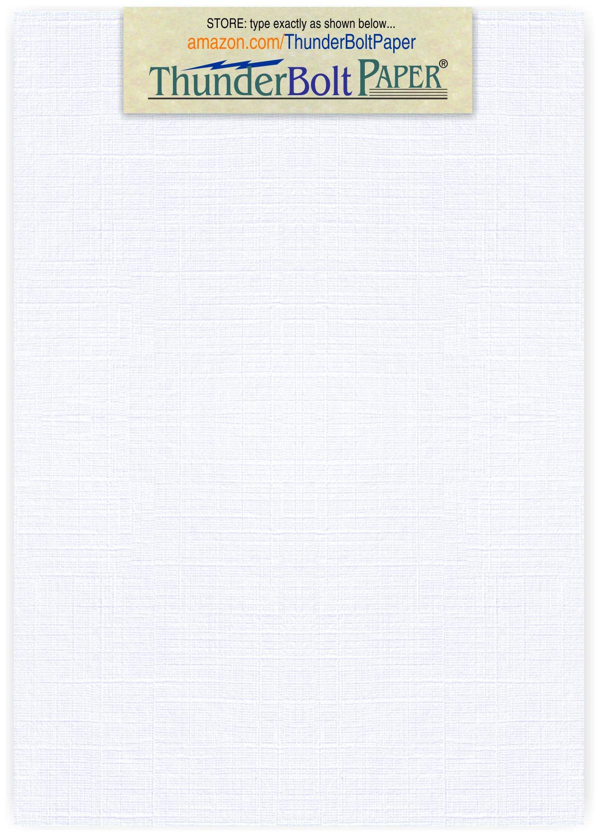 750 Bright White Linen 80# Cover Paper Sheets - 5'' X 7'' (5X7 Inches) Photo|Card|Frame Size - 80 lb/Pound Card Weight - Fine Linen Textured Finish - Quality Cardstock