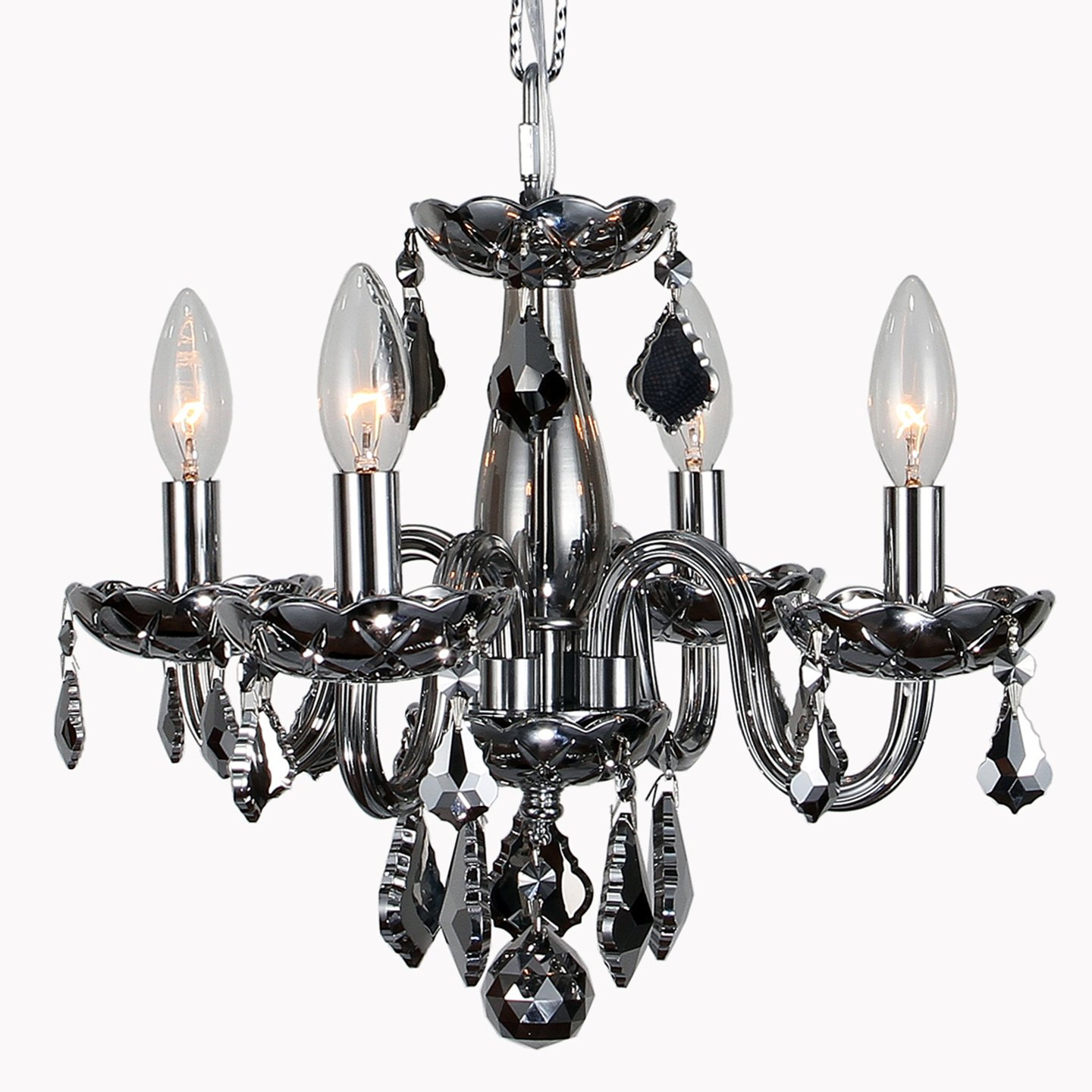 Com Worldwide Lighting W83100c16 Ch Clarion Collection 4 Light Chrome Finish And Crystal Chandelier Mini 16 X 12 Home