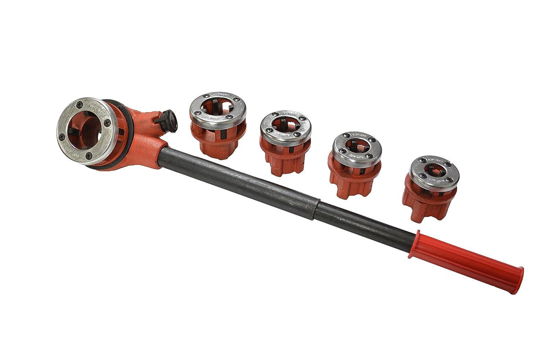 "4 Dies Manual Plumber Pipe Threading Kit 1//2/"" 3//4/"" 1/"" 1-1//4/"" Threader Tool New"