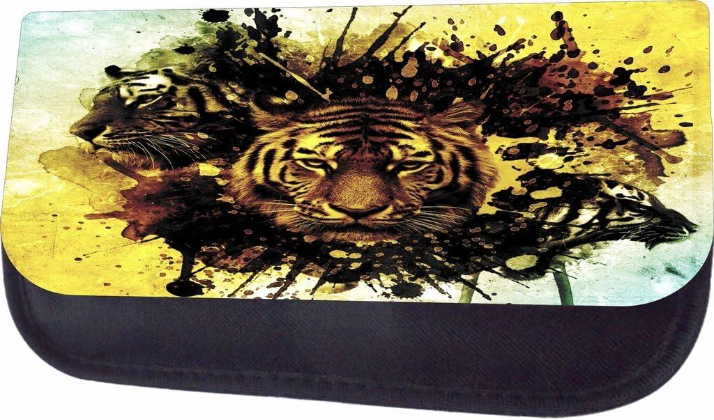 Tiger Splash Art Jacks Outlet School Backpack and Pencil Case Set