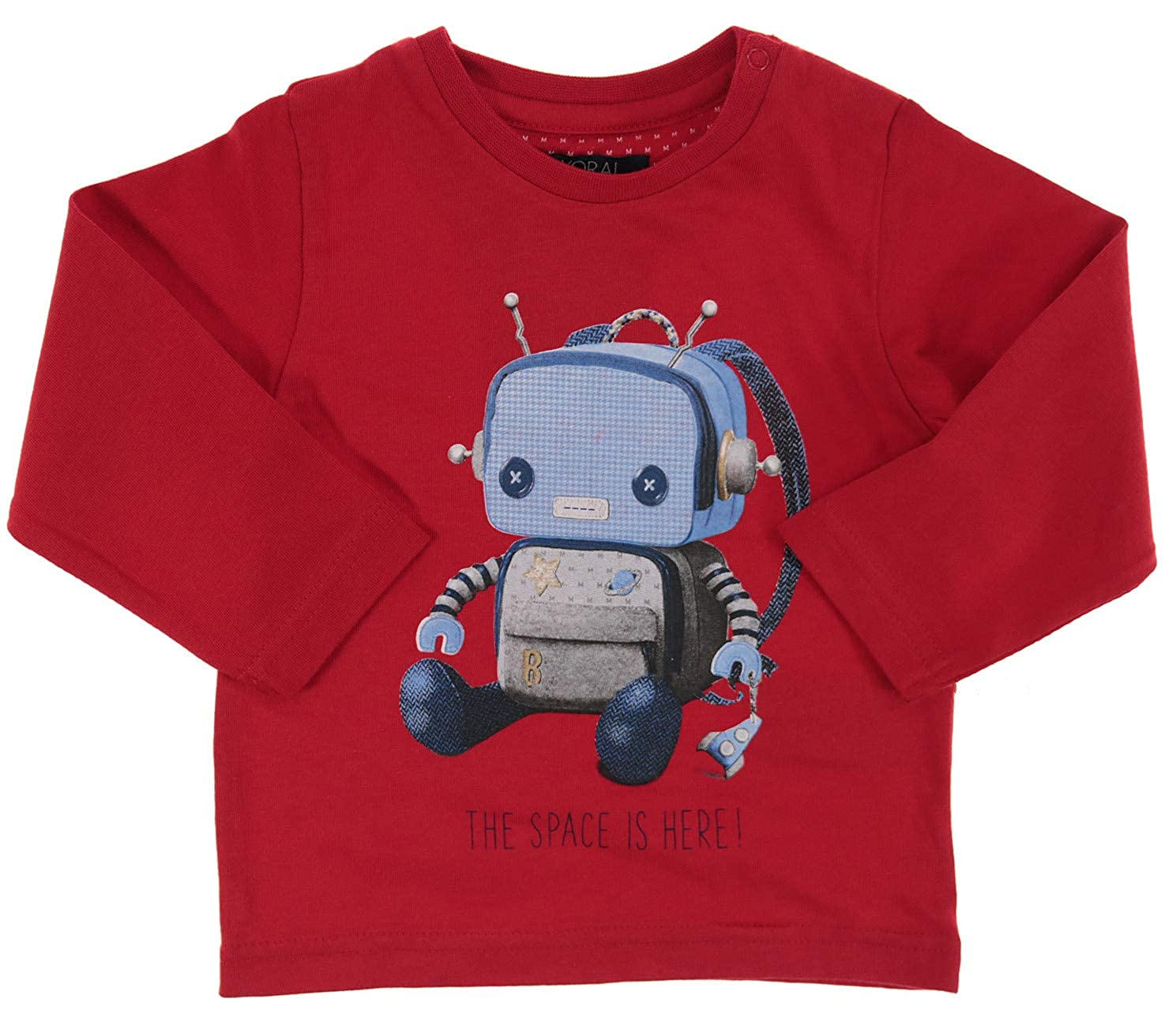 Mayoral Jungen Baby Langarm-Shirt wei/ß Roboter